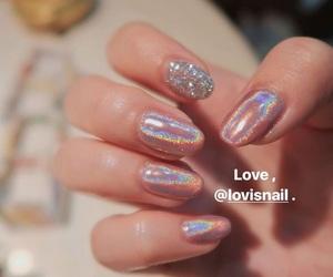 hologram, nail art, and nail polish image