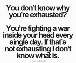 quotes, exhausted, and depression image