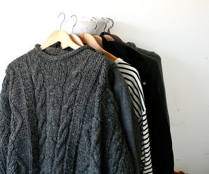 sweater, clothes, and black image