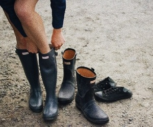 hunter, boots, and cold image