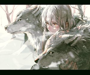 anime and wolf image
