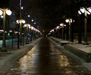 city lights, dark, and night image