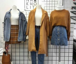 blue, fashion, and brown image