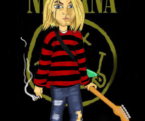 art, drawing, and nirvana image