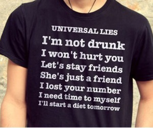 lies, text, and drunk image