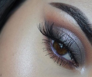 eyeshadow, lashes, and makeup image