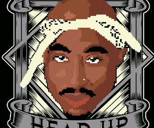 2pac, rapper, and thuglife image