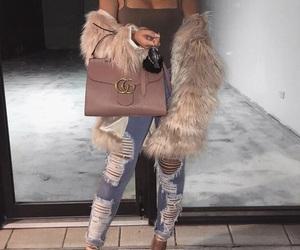 bag, gucci, and fur image