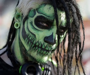 skull, boy, and dreads image
