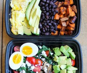 bowls, meal, and breakfast image