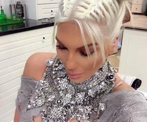 blonde, jelena karleusa, and buns image
