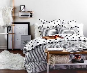 apartment, bed, and black image