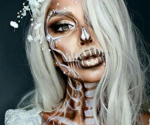 Halloween, makeup, and skeleton image