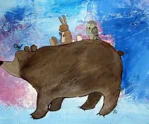 animal art, art, and bear image