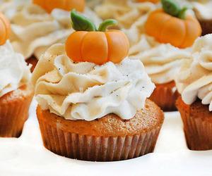 cupcake, pumpkin, and food image