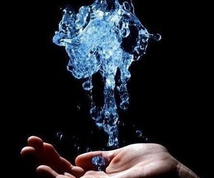 water, magic, and hand image