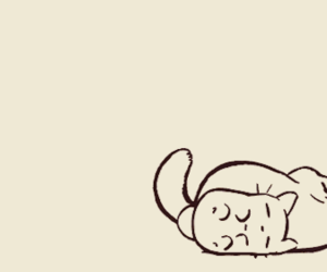 cat, gif, and drawing image