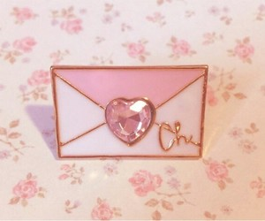 heart, pin, and pink image