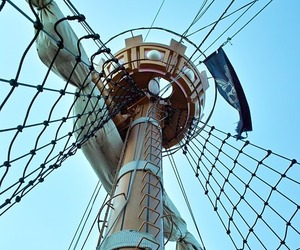 mast, pirate, and ship image