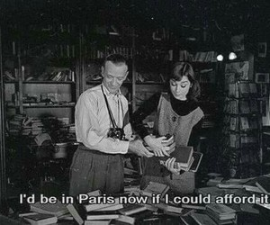 paris, audrey hepburn, and quotes image