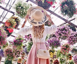 flowers, pink, and fashion image