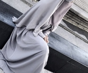 grey, islam, and niqab image