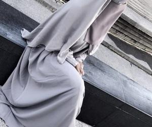 grey, islam, and niqab image