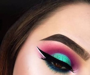 makeup, tumblr, and eye image
