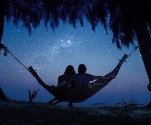 love, couple, and stars image