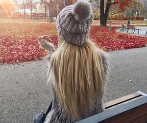 autumn, girl, and beautiful image