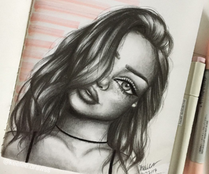 beautiful, draw, and drawing image