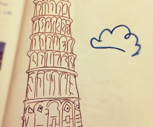 leaning tower of pisa and drawings image