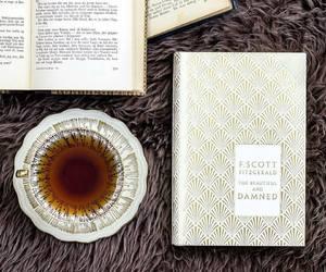 books, tea, and cupoftea image