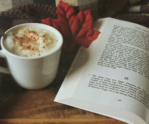 autumn, books, and cafe image