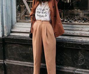 beige, blazer, and brown image