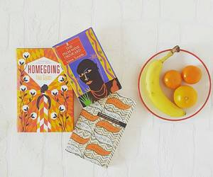 books, food, and snack image