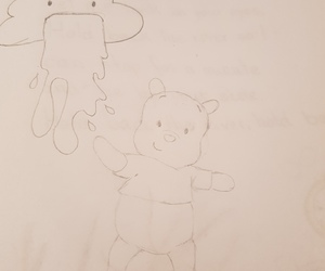 cloud, drawing, and pooh image