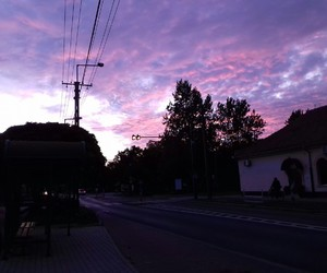 light, purple, and sky image