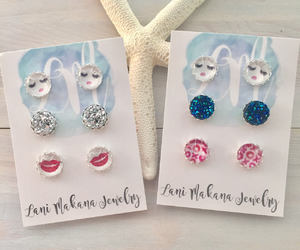 etsy, stud earring set, and glamour girl image