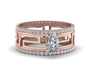 diamond rings online, round diamond rings, and rose gold rings image