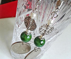 1992, 25th anniversary, and green jade earrings image