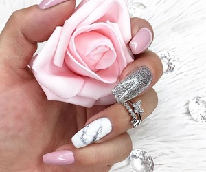 marble, nails, and pink image