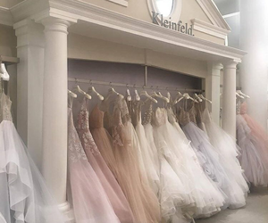 dress, wedding, and pastel image