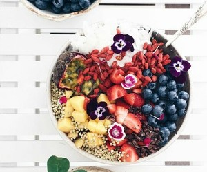 breakfast, acai bowl, and colorful image