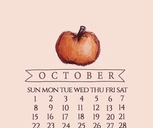 autumn, calendar, and october image