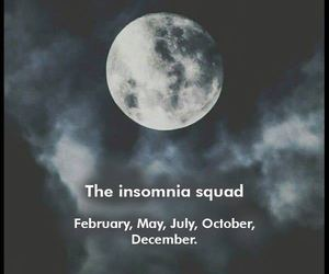 december, horoscope, and insomnia image