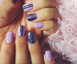 beautiful, manicure, and violet image