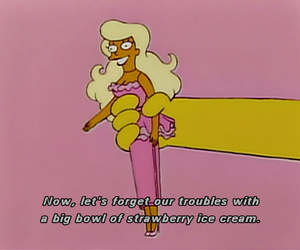 pink, simpsons, and barbie image