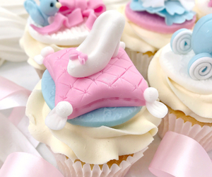 blue, cinderella, and cupcakes image