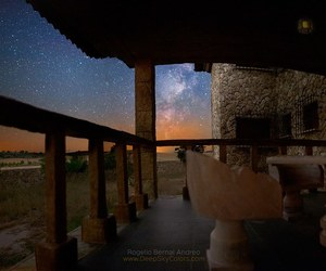 milky way, night sky, and spain image